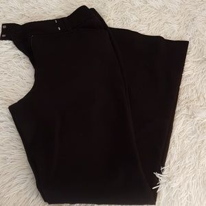 WHBM black 4 Short flare dress pants